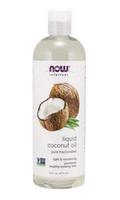 NOW fractionated coconut oil in plastic bottle