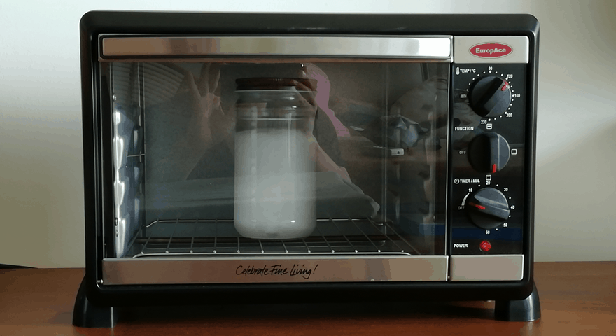 Melting coconut oil in toaster oven