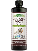 A bottle of Nature's Way organic MCT oil