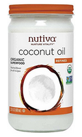 Nutiva organic RBD coconut oil in glass jar