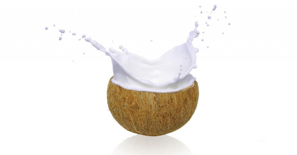 Splashing coconut cream