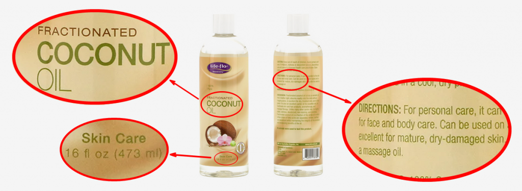 A typical fractionated coconut oil