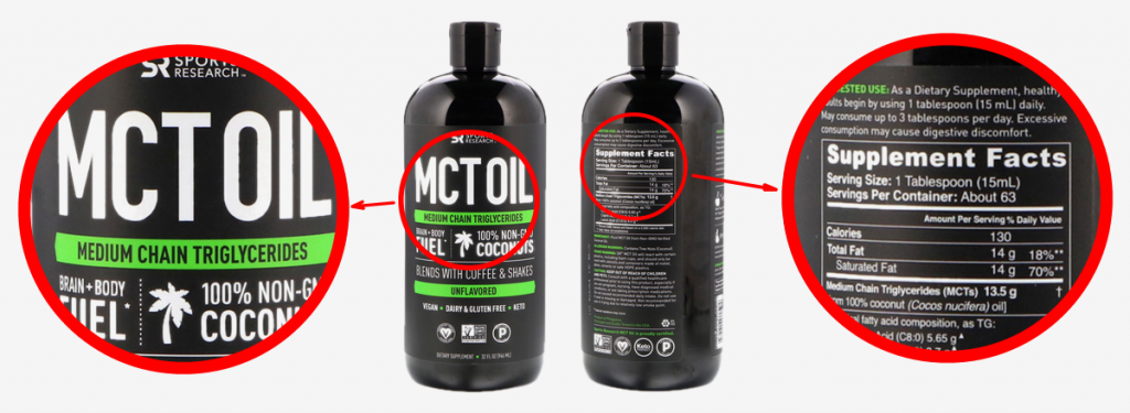 A typical MCT oil