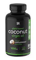 Virgin coconut oil in vegan capsules